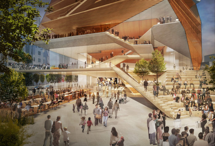 First concept design for Centre For Music released